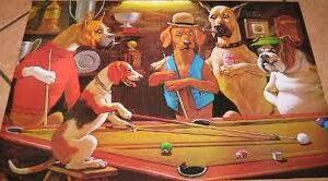 Poster De Perros Jugando Pool Pamela Pool